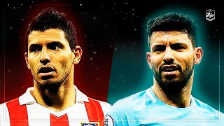 Agüero in Atletico Madrid vs Agüero in Manchester City | HD