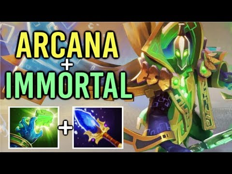 BADASS ARCANA + IMMORTAL Rubick Mid Best Effect Gameplay Mega Comeback by xy Dota 2