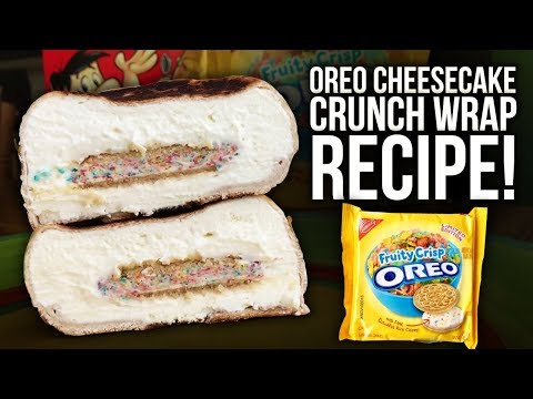 Fruity Crisp Oreo Cheesecake Protein Dessert Crunch Wrap Recipe!!