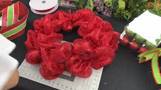 Candy Cane Christmas Mesh Wreath Tutorial!