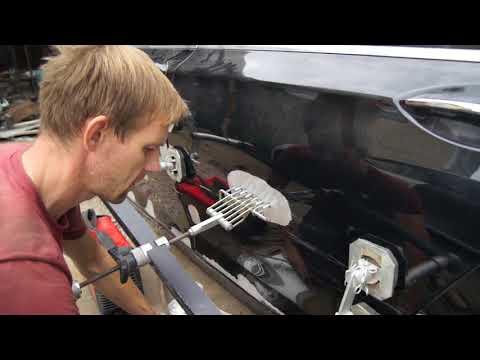 рихтовка алюминия BMW 7 вроде как небольшой ремонт