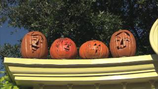 Halloween Pumpkin Carvings At Disneys Magic Kingdom In Orlando, Florida