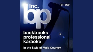 Love Like There's No Tomorrow (Karaoke Instrumental Track) (In the Style of Aaron Tippin)