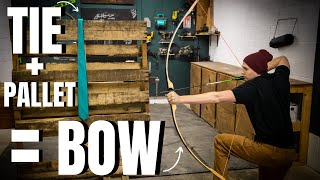 "Making A Bow Out Of A PALLET & TIE ""WILL IT BOW"" (EP.1)"