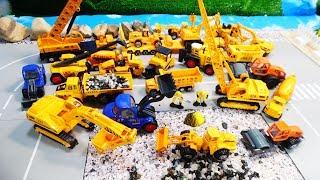 Машинки стройтехника для детей металлические модели