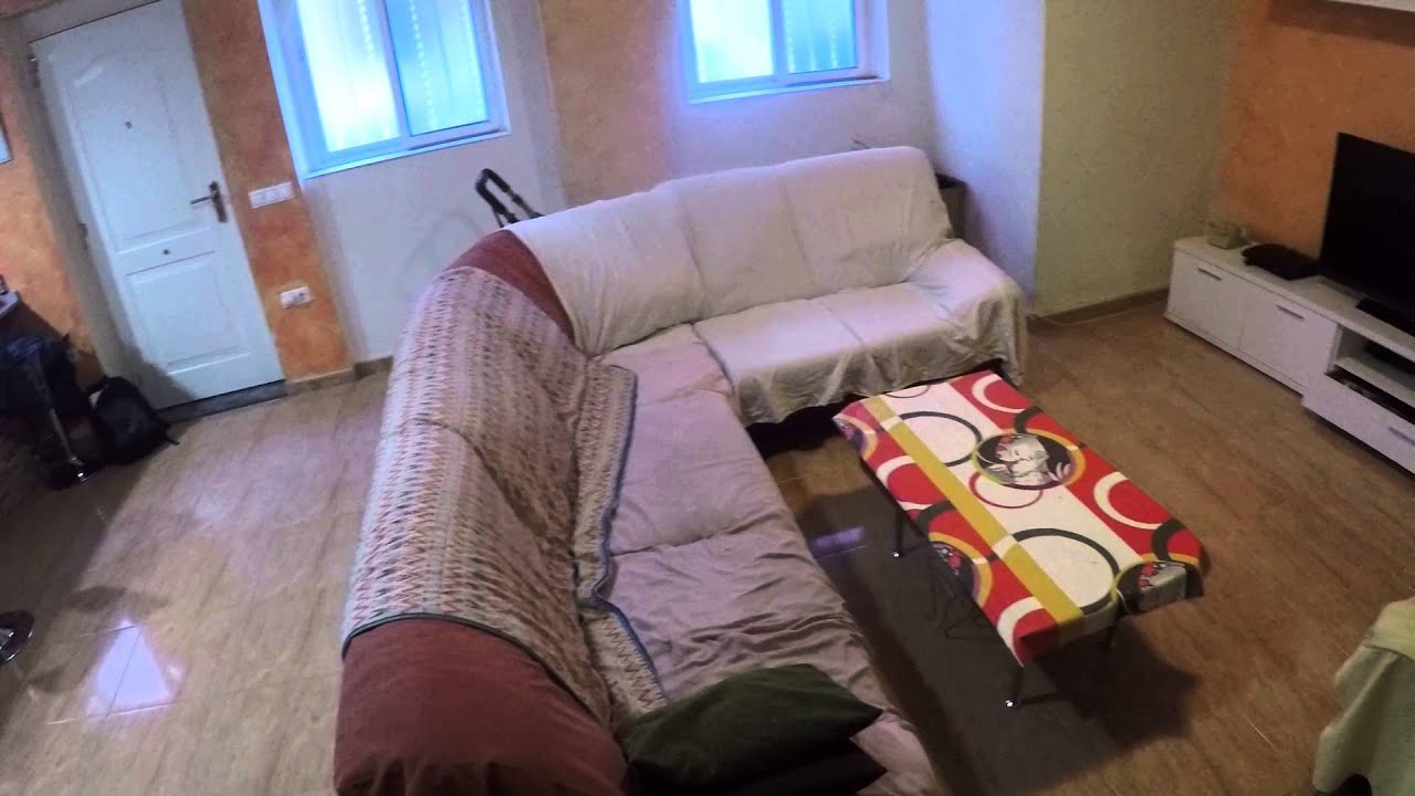 Decorated room with window with street view in 2-bedroom apartment, Poblats Maritim