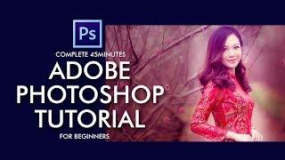 Adobe Photoshop Tutorial in Urdu/ नहीं for Beginners - Complete 45 Minutes Class - White Dot Academy