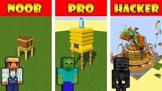 Monster School : BUILDING A BEES HOUSE - Minecraft Animation