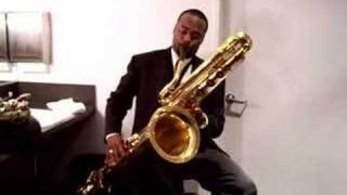 James Carter playing IW bass saxophone