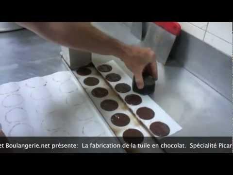 Les tuiles en chocolat
