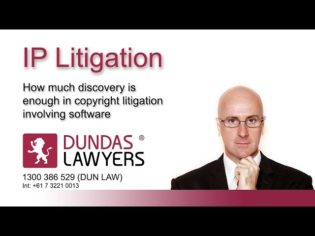 Software litigation – how much evidence is enough? Video