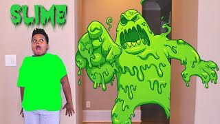 DIY Slime Baff Toy Disaster! w/ Creepy Killer Clown Stalker - Shasha and Shiloh - Onyx Kids