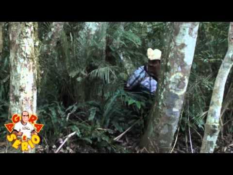 Vixi Repórter do Mato passa mal fazendo matéria no Parque Ecológico de Juquitiba