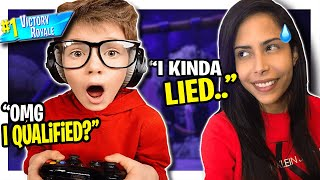 I told a KID he was trying out for Friday Fortnite (Battle Royale)