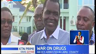 An OCS, an MCA and several police officers arrested at the Coast over illicit drugs