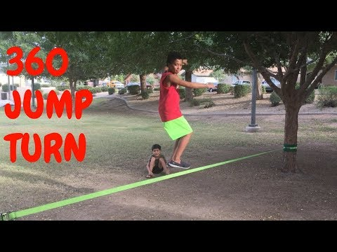 Slackline Tutorial: How To 360 Jump Turn