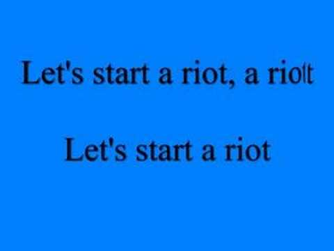 Riot - Three Days Grace LYRICS INCLUDED