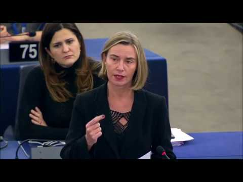 Mogherini reports on the situation of migrants in Libya during EP plenary