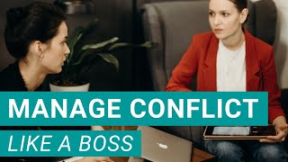 HOW TO RESOLVE CONFLICT AT WORK (Act Like a Leader!)