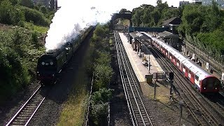 preview picture of video '34067 Tangmere, on the West Somerset Steam Express. North Acton, 21 July 2012.'
