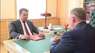 Андрей Никитин встретился с избранным главой Чудовского района Николаем Хатунцевым