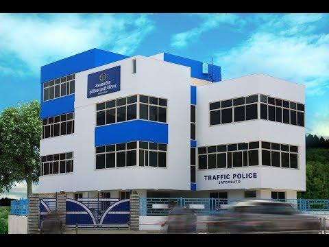 सातदोबाटोमा बन्यो अत्याधुनिक ट्राफिक प्रहरी भवन