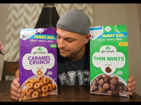 Girl Scout Cookie Cereal Review and Taste Test