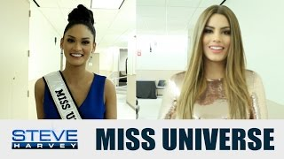 Do Miss Universe and Miss Colombia forgive Steve? || STEVE HARVEY