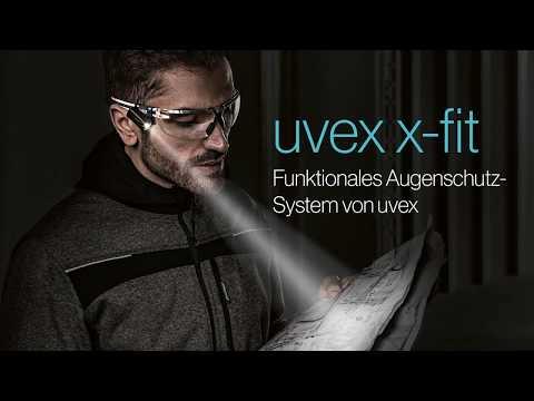 Schutzbrille mit Licht & Kopfband - uvex x-fit pro (Deutsch)