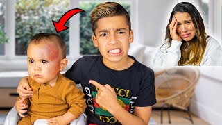 i DROPPED My BABY BROTHER!! I'M SORRY MOM... | The Royalty Family