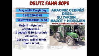 deutz fahr traktörler hidrojen yakıt tasarruf sistem montajı