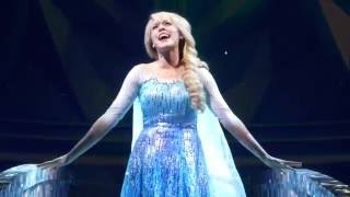 Frozen Songs Let it Go (Upclose Front Row View) - Live Show at Hyperion - Disneyland Resort (HD)