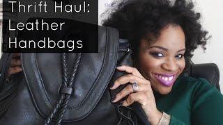 Thrift Haul: Leather Handbags