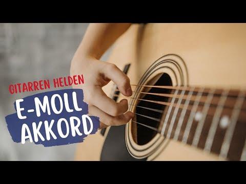 Gitarre lernen für Kinder - Anfänger -  Einfach  - Erste Akkorde E Moll -  emusikids.de