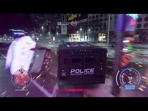 Need For Speed Heat - Police SWAT Van vs. Maximum Heat Level Cops!