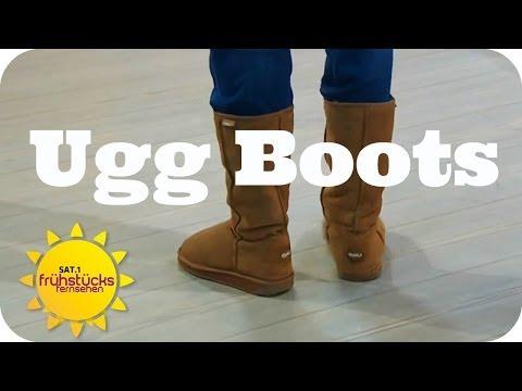 Trend Ugg Boots: Bequem vs. Chic   Sat.1 Frühstücksfernsehen