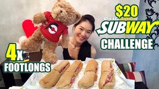 $20 Subway Challenge (4 Footlong Sandwiches) | Randy Santel