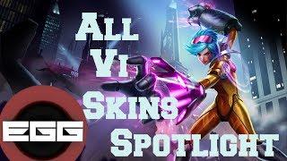 All Vi Skins Spotlight - League Of Legends Skin Review