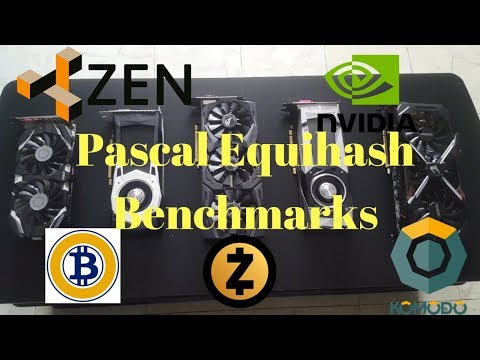 ZenCash [Equihash] GPU Benchmarking (Nvidia) GTX1060 - 1080ti