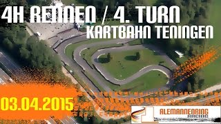 preview picture of video 'Leihkart | Kartbahn Teningen | 4 Stunden Rennen | 03.04.2015 | 4. Turn'