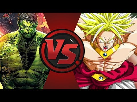 World Breaker Hulk vs Broly (Marvel vs Dragon Ball Z)! Cartoon Fight Night Episode 40!