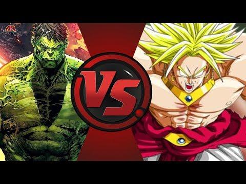World Breaker Hulk vs Broly (Marvel vs Dragon Ball Z)! Cartoon Fight Night Episode 40!