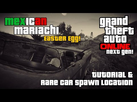 "GTA V Online Secret Car ""Rare Spawn"" Hidden Car Easter Egg Mariachi Tornado New!"
