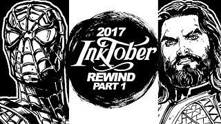 JUSTICE LEAGUE! AVENGERS!  PORGS! - INKTOBER 2017 REWIND! Part 1 of 2