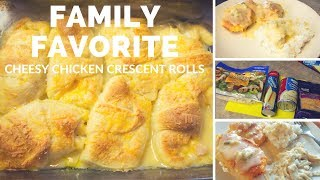 EASY FAMILY FAVORITE DINNER RECIPE | CHEESY CHICKEN CRESCENT ROLLS | COOK WITH ME