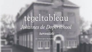 Herontdekking van tegeltableau Johannes de Doperschool Oisterwijk