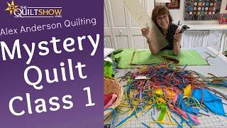 Alex Anderson : Kaffe Mystery Quilt Class 1 - Double X Quilt Block