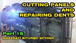 Undercarriage Dent Repair - Maserati Spyder Part 15