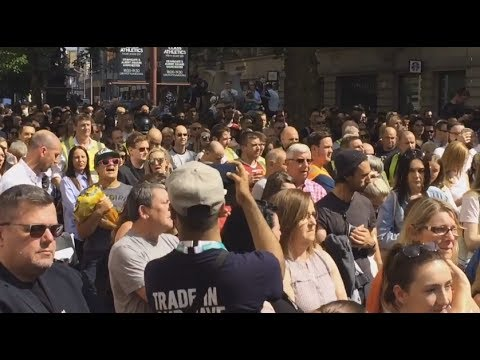 Manchester: Grieving Crowd Sings
