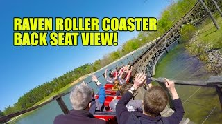 Raven Roller Coaster Back Seat POV View Holiday World Indiana
